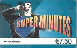 CARTE--PREPAYEE-GNANAM-7,5€- SUPER MINUTES-Exp 12/2010-Gratté-Plastic Fin Glacé-TBE/RARE - Altre Schede Prepagate