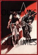 ITALY - GIOVENTU ITALIANA DEL LITTORIO - 1º CAMPO PER ATLETI - CICLISMO - 1941 ART SIGNED POSTCARD - Reggio Calabria