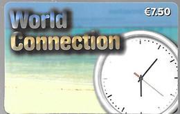 CARTE--PREPAYEE-WORLD CONNECTION-7,5€-V° Sans Date-Gratté-Plastic Fin Glacé-TBE/RARE - Altre Schede Prepagate