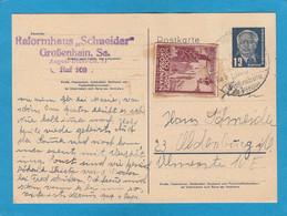 """GANZSACHE MIT U.A. VIGNETTE """"1000 JAHRE GROSSENHAIN"""". - Postkarten - Gebraucht"""