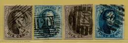 MW-5398   Ocb 6+7+10+11       P 120  TOURNAI - 1851-1857 Médaillons (6/8)