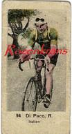 Small Chromo Raffaele Di Paco Fauglia Ciclismo Ciclista Italiano Wielrenner Cycliste Coureur GP Acht Van Brasschaat 1936 - Wielrennen
