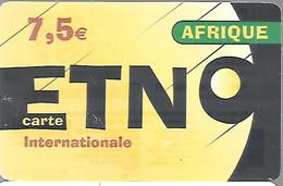 CARTE--PREPAYEE-ETOILE TELECOM-ETNO-7,5€-AFRIQUE-V°Exp 31/12/2011-Gratté-Plastic Fin Glacé-BE/RARE - Altre Schede Prepagate