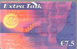 CARTE-PREPAYEE-7.5€-EXTRA TALK-Exp12/2007-Gratté-Plastic Fin Glacé-TBE - Altre Schede Prepagate