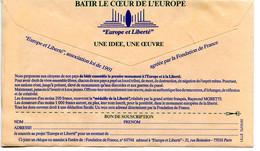 CCP Publicitaire,monument Europe Et Liberté,batir Le Coeur De L'Europe,Fondation De France - Idee Europee