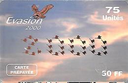 CARTE-PREPAYEE--EAGLE-50F-75U-EVASION-31/03/2001-V° Code PN°3/3/3/3-Gratté-Plastic Epais-Mat TBE - Altre Schede Prepagate