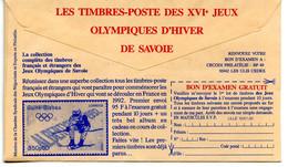 CCP Publicitaire,jeux Olympiques De Savoie,Albertville 1992, Ski Alpin - Invierno 1992: Albertville