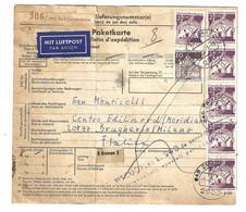 Paketkarte Bulletin Mit Luftpost Par Avion Bad Zwischenahm Nach Italien Milano 1971 14,10 DM. - Brieven En Documenten
