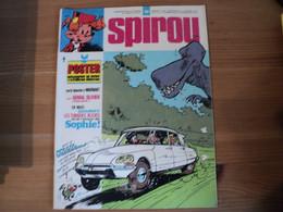 SPIROU N°1906 DU 24 / 10 / 1974. PREMIER PLAT DE JIDEHEM POSTER CENTRAL TUNIQUES BLEUES / WARNANT / GENIAL OLIVIER / SA - Spirou Magazine