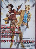 CINEMA - BUTCH CASSIDY (Affiche) - Paul NEWMAN - Robert REDFORD ... - Plakate Auf Karten