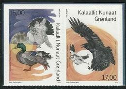 "GROENLANDIA /GREENLAND /GRÖNLAND  -EUROPA 2019 -NATIONAL BIRDS.-""AVES -BIRDS -VÖGEL-OISEAUX""- SERIE C Adh. CARNET - 2019"