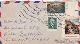USA ENVELOPPE CIRCULEE ANNEE 1975, PAR AVION. NEW YORK A VILLA BALLESTER ARGENTINE.- LILHU - Briefe U. Dokumente