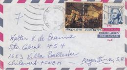 USA ENVELOPPE CIRCULEE ANNEE 1977, PAR AVION. NEW YORK A VILLA BALLESTER ARGENTINE.- LILHU - Briefe U. Dokumente