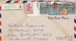 """GRAND CENTRAL STATION"" USA ENVELOPPE CIRCULEE ANNEE 1976, PAR AVION. NEW YORK A VILLA BALLESTER ARGENTINE.- LILHU - Briefe U. Dokumente"
