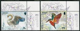 "JERSEY - EUROPA 2019 - NATIONAL BIRDS & SYMBOLISH.- ""AVES - BIRDS - VÖGEL - OISEAUX""-  SERIE De 2 V. Logo EUROPA -CH - 2019"