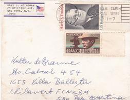 USA ENVELOPPE CIRCULEE ANNEE 1976, PAR AVION. NEW YORK A VILLA BALLESTER ARGENTINE.- LILHU - Briefe U. Dokumente