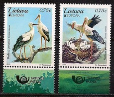 "LITUANIA/ LITHUANIA/ LITAUEN/ LITUANE/ EUROPA 2019 -NATIONAL BIRDS.-""AVES - BIRDS - VÖGEL -OISEAUX""- SERIE 2 V.+ LOGO - 2019"
