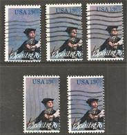 United States - Scott #1629 Used - 5 Different - Gebraucht
