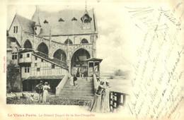 """Carte Postale """" Paris > Les Grand Degrés De La Sainte Chapelle > Jolie Timbres - Kirchen"""