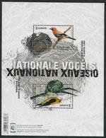 """BÉLGICA /BELGIUM / BELGIEN /BELGIQUE /BELGIE -EUROPA 2019 -NATIONAL BIRDS.-""""AVES - BIRDS - VÖGEL -OISEAUX""""-HOJITA BLOQUE - 2019"""