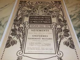 ANCIENNE PUBLICITE MAGASIN BELLE JARDINIERE 1916 - Altri