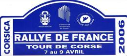 """AUTOCOLLANT """" RALLY DE FRANCE """" TOUR DE FRANCE - TOUR DE CORSE - CORSICA - Other"""