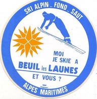Autocollant - Moi Je Skie à BEUIL Les LAUNES - Ski Alpin-Fond-Saut - Sport Invernali