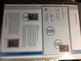 UNO :  GENEVE : 1/1981 Until 8/1987  FDC With FDC Page : 50 Pages Total - FDC