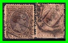 ESPAÑA.- (REINADO DE ALFONSO XIII) -&- SELLOS AÑO 1901-1905  ALFONSO XIII TIPO PELON - Used Stamps