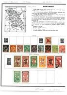 Colonies Françaises Martinique 1892/1947 55 Timbres Différents  4 €  (cote 49,65 € 55 Valeurs) - Gebraucht