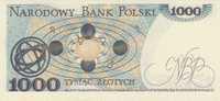 POLAND P. 146c 1000 Z 1982 UNC - Pologne