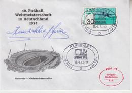 Juan Alberto Schiaffino († 2002) Uruguay World Cup Winner 1950 - Autograph On FDC - 16x11 Cm - Autographes