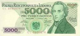POLAND P. 150a 5000 Z 1982 UNC - Pologne