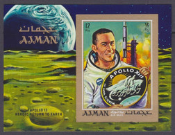 1970 Ajman 567/B193b Apollo 13 13,00 € - Asia