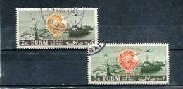 Dubai 1964 Yt 25-26 Timbres Pour La Poste Aérienne Exposition Internationale De New York - Dubai