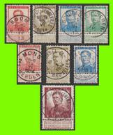 N°118-125 - ARMOIRIES & S.M. Albert Ier - Série Superbement Oblitérée - 1912 Pellens
