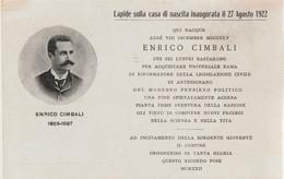 289-Bronte-Catania-Sicilia-Commemorativa Enrico Cimbali-Ed.Circolo Civili - Catania