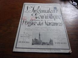Information Touristique 1930 Pub Compagnie Maritime Française De Navigation - Dépliants Turistici