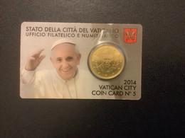 Coincard N°05 - 2014 / 0,50 € - Vatikan