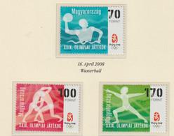 Hungary 2008 Beijing Olympic Games 3 Stamps MNH/** (H72) - Verano 2008: Pékin