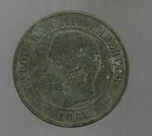 Monnaie , France , 10, Dix Centimes 1856 D, 2 Scans - D. 10 Centimes