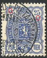 Error -- FINLAND / SUOMI 1890 25 PEN LION USED STAMP - Ungebraucht