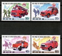 Korea North 2001 Corea / Firefighters Firemen MNH Bomberos Feuerwehr Pompiers / Hu44  30-8 - Firemen