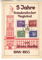 Allemagne - République Démocratique - Document  De 1953 ° - Oblit Berlin - Valeur Timbre Oblitérés = 25 Euros - Briefe U. Dokumente
