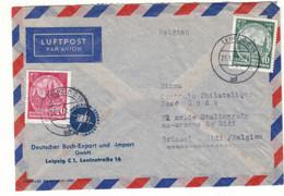 Allemagne - République Démocratique - Lettre  De 1957 - Oblit Leipzig - Vues De Dresden - - Briefe U. Dokumente