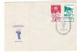 Scoutisme - Allemagne - République Démocratique - Lettre  De 1958 - Oblit Halle Saale - Drapeaux - Clairon - - Briefe U. Dokumente