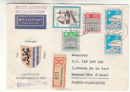 Allemagne - République Démocratique - Lettre  Recom De 1962 - Oblit Thalheim - Avions - Trains - Radio - Briefe U. Dokumente