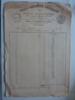 """Fattura """"DITTA GIUSEPPE CAVIGLIOLI PANIFICIO ROMANO E VIENNESE - FORNO FABBRICA DI PASTE ROMA"""" 1900 - Visiting Cards"""