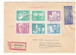 Allemagne - République Démocratique - Lettre  Recom De 1973 - Oblit Dresden - Pélicans - Marx - Lénine - Briefe U. Dokumente