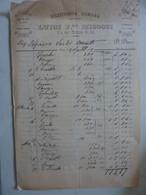"""Fattura """"PIZZICHERIA ROMANA LUIGI F.LLI  MICOCCI ROMA"""" 1899 - Visiting Cards"""